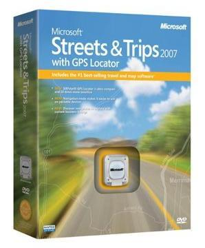 Microsoft Streets & Trips 2007 for Windows with GPS Locator Box
