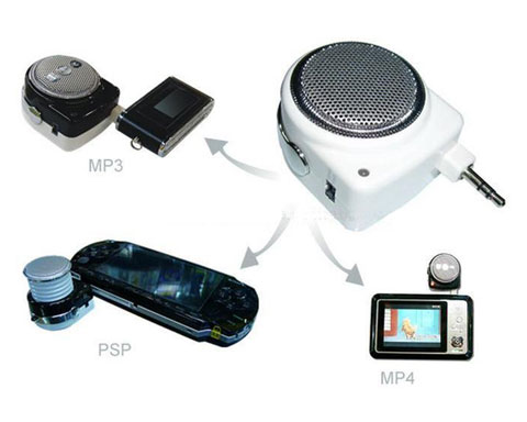 Rechargeable Mini Speaker for MP3, MP4, notebook, PDA, PSP, PC,