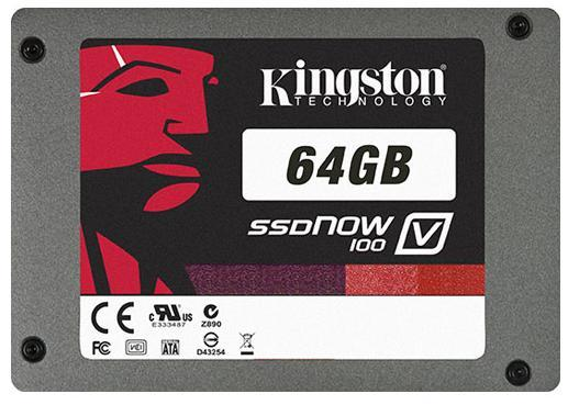 "z Kingston SSDNow V100 Series SV100S2/64GZ 2.5"" 64GB SATA II Int"