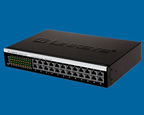 Linksys EtherFast 4124 24port 10/100 Desktop Switch Metal Form F