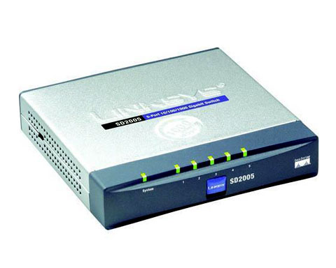 Linksys SD2005 5-Port Gigabit Ethernet Switch