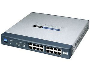 Linksys Cisco/Linksys 16port Switch 10/100 Rackmount LIFETIME Wa