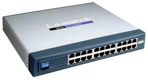 Z Linksys SR224 24-Port 10/100 Rackmount Switch