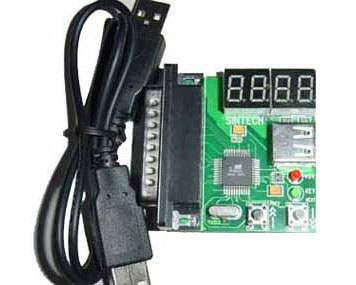 LPT port 4 bits Diagnostic Debug Post Card for PC & Notebook - U