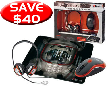 Trust GM-6400 Gamer Pack Advanced Kit - Mouse, Headset, Mouse Pa