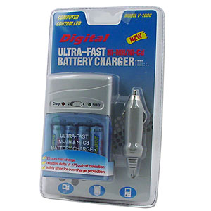 Digital Ultra-Fast Ni-MH/Ni-Cd Battery Charger