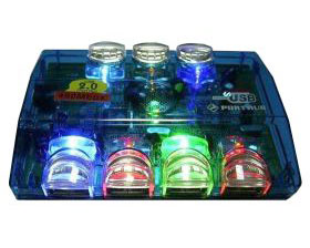 8 Fantastic LED Lights, USB2.0, 7-Port Hub