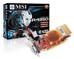 Z SOLD OUT MSI ATI Radeon HD R4350 Graphics Card - 512MB GDDR2 P