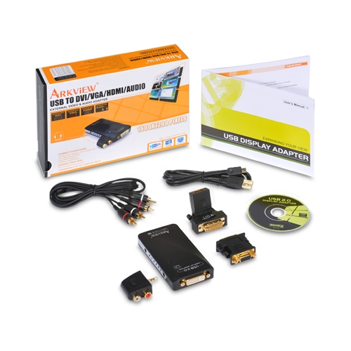 Arkview SABRENT USB-WA62 Multi-Display USB 2.0 to DVI VGA HDMI V