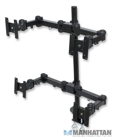 Manhattan 4 LCD Monitor Arm Mount Pole 420815