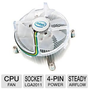 Intel BXRTS2011AC Sandy Bridge-E Air Cooler - CPU Fan, LGA 2011