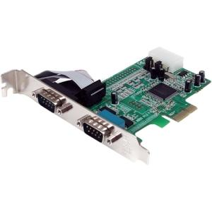 StarTech.com 2 Port PCIe Serial Adapter Card with 16550