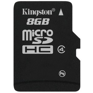 Kingston 8GB microSDHC Card - (Class 4) SDC - 8GB