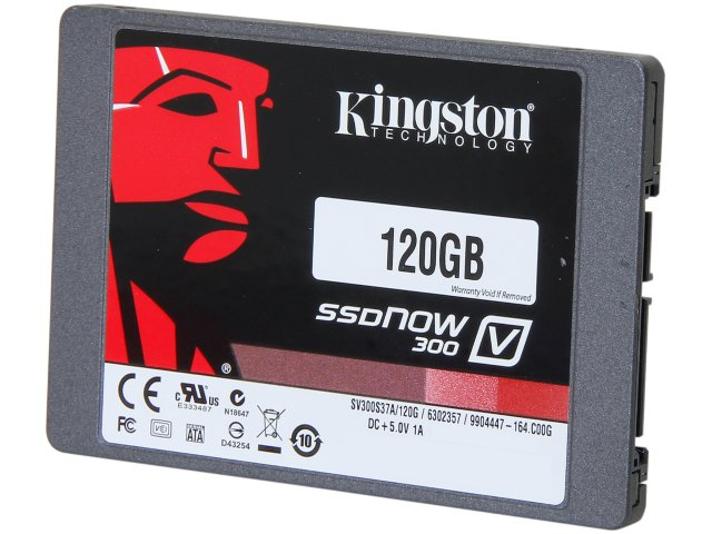 "Kingston V300 120GB 2.5"" SATA III Solid State Drive (SSD)  - SV3"